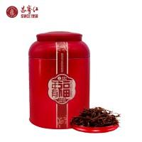 云南滇红茶罐装红茶茶叶蜜香型大叶种茶工夫红茶昌宁红年有福120g