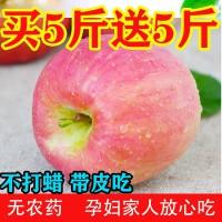 【包邮】10斤苹果陕西苹果新鲜红富士水果脆甜高山苹果整箱批发平果5斤